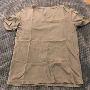 Green J Crew Broken In Tee V Neck